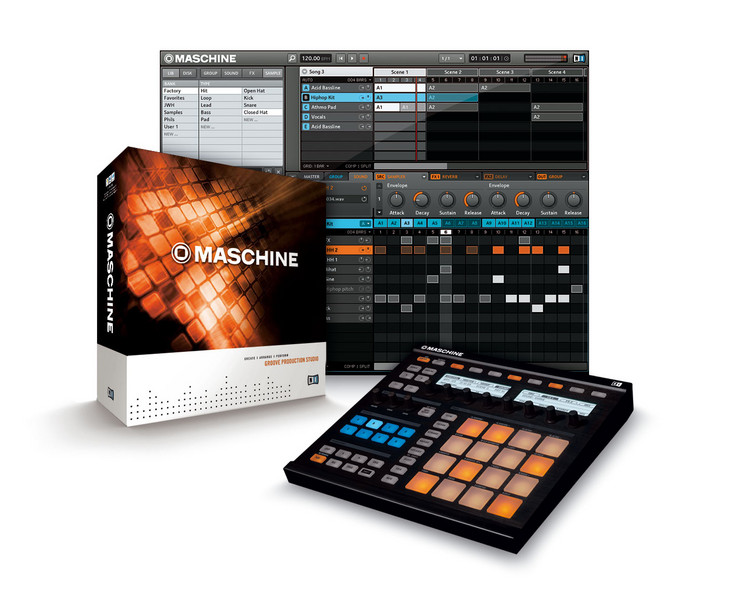 Making a beat on native instruments maschine with no samples