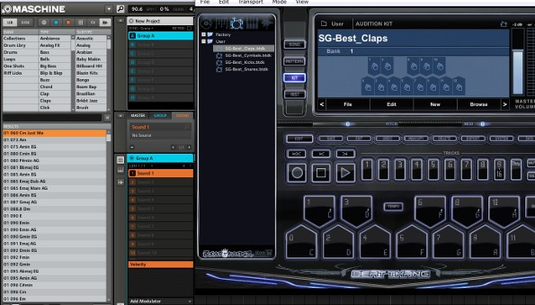 maschine using sounds and instruments from beat thang virtual. Black Bedroom Furniture Sets. Home Design Ideas