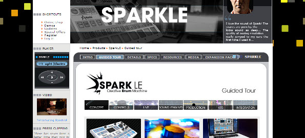 arturia sparkle hybrid drum machine